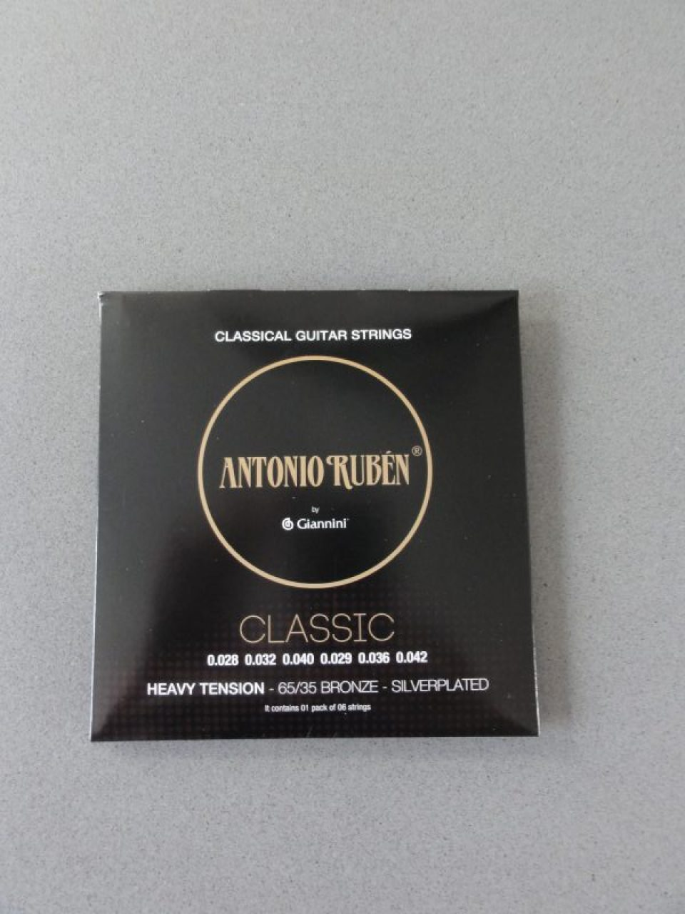 Ruben Classical Strings Heavy Tension,Silverplated 65/35 Bronze