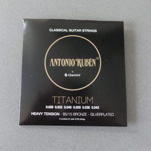 Ruben Titanium Classical Strings HeavyTension,Silverplated 65/35 Bronze 1